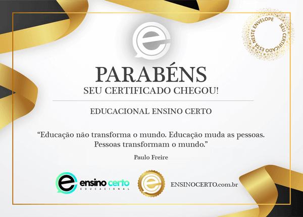 certificado válido em todo Brasil - educacional ensino certo - supletivo eja online